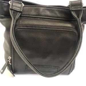 Fossil Handbag Genuine Leather Black Shoulderbag